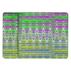 Colorful Zigzag Pattern Samsung Galaxy Tab 10 1  P7500 Flip Case by BrightVibesDesign