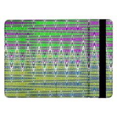 Colorful Zigzag Pattern Samsung Galaxy Tab Pro 12 2  Flip Case by BrightVibesDesign