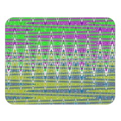Colorful Zigzag Pattern Double Sided Flano Blanket (large)  by BrightVibesDesign
