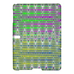 Colorful Zigzag Pattern Samsung Galaxy Tab S (10 5 ) Hardshell Case  by BrightVibesDesign