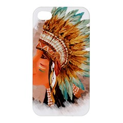 Native American Young Indian Shief Apple Iphone 4/4s Hardshell Case
