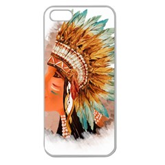 Native American Young Indian Shief Apple Seamless Iphone 5 Case (clear)