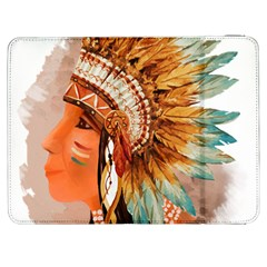 Native American Young Indian Shief Samsung Galaxy Tab 7  P1000 Flip Case by TastefulDesigns