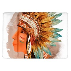 Native American Young Indian Shief Samsung Galaxy Tab 10 1  P7500 Flip Case by TastefulDesigns