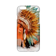 Native American Young Indian Shief Apple Iphone 6/6s Hardshell Case by TastefulDesigns