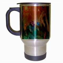 Star Illumination Travel Mug (silver Gray) by icarusismartdesigns