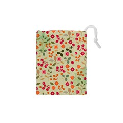 Elegant Floral Seamless Pattern Drawstring Pouches (xs)  by TastefulDesigns