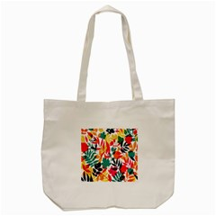 Seamless Autumn Leaves Pattern  Tote Bag (cream)