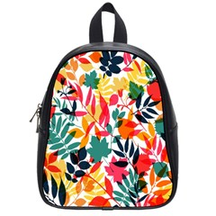 Seamless Autumn Leaves Pattern  School Bags (small)  by TastefulDesigns