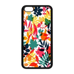 Seamless Autumn Leaves Pattern  Apple Iphone 5c Seamless Case (black) by TastefulDesigns