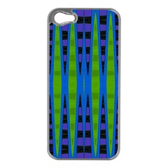 Blue Green Geometric Apple Iphone 5 Case (silver)