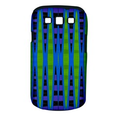 Blue Green Geometric Samsung Galaxy S Iii Classic Hardshell Case (pc+silicone) by BrightVibesDesign