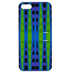 Blue Green Geometric Apple Iphone 5 Hardshell Case With Stand by BrightVibesDesign
