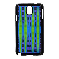 Blue Green Geometric Samsung Galaxy Note 3 Neo Hardshell Case (black)