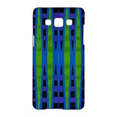 Blue Green Geometric Samsung Galaxy A5 Hardshell Case  by BrightVibesDesign