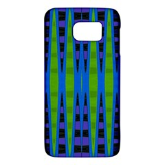 Blue Green Geometric Galaxy S6 by BrightVibesDesign