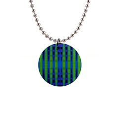 Blue Green Geometric Button Necklaces by BrightVibesDesign