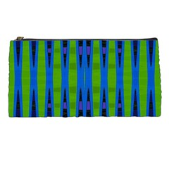 Blue Green Geometric Pencil Cases by BrightVibesDesign