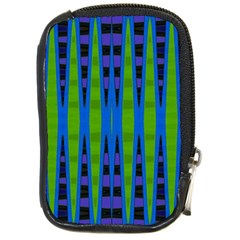 Blue Green Geometric Compact Camera Cases