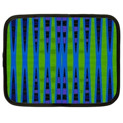 Blue Green Geometric Netbook Case (xl)