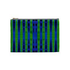 Blue Green Geometric Cosmetic Bag (medium)