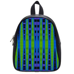 Blue Green Geometric School Bags (small)