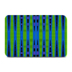 Blue Green Geometric Plate Mats by BrightVibesDesign