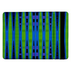 Blue Green Geometric Samsung Galaxy Tab Pro 12 2  Flip Case by BrightVibesDesign