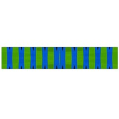 Blue Green Geometric Flano Scarf (large)