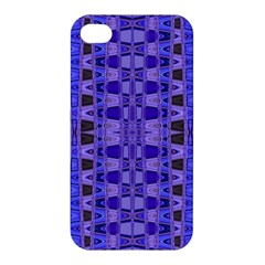 Blue Black Geometric Pattern Apple Iphone 4/4s Hardshell Case by BrightVibesDesign