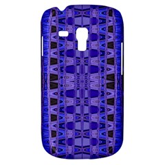 Blue Black Geometric Pattern Samsung Galaxy S3 Mini I8190 Hardshell Case by BrightVibesDesign