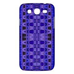 Blue Black Geometric Pattern Samsung Galaxy Mega 5 8 I9152 Hardshell Case