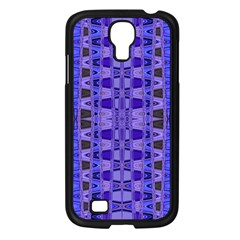 Blue Black Geometric Pattern Samsung Galaxy S4 I9500/ I9505 Case (black)