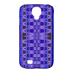 Blue Black Geometric Pattern Samsung Galaxy S4 Classic Hardshell Case (pc+silicone)