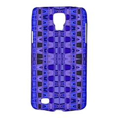 Blue Black Geometric Pattern Galaxy S4 Active