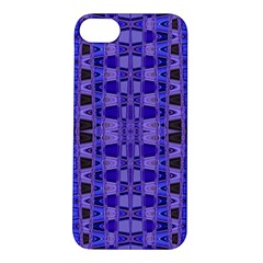 Blue Black Geometric Pattern Apple Iphone 5s/ Se Hardshell Case by BrightVibesDesign