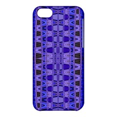 Blue Black Geometric Pattern Apple Iphone 5c Hardshell Case by BrightVibesDesign