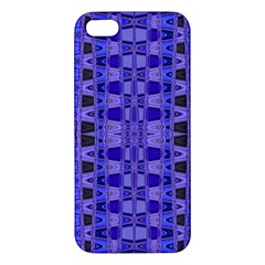 Blue Black Geometric Pattern Iphone 5s/ Se Premium Hardshell Case