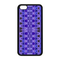 Blue Black Geometric Pattern Apple Iphone 5c Seamless Case (black)