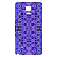 Blue Black Geometric Pattern Galaxy Note 4 Back Case