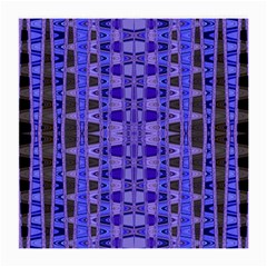 Blue Black Geometric Pattern Medium Glasses Cloth (2 Side) by BrightVibesDesign