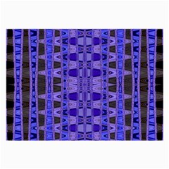 Blue Black Geometric Pattern Large Glasses Cloth (2 Side)