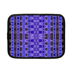 Blue Black Geometric Pattern Netbook Case (small)  by BrightVibesDesign