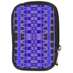Blue Black Geometric Pattern Compact Camera Cases by BrightVibesDesign