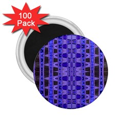 Blue Black Geometric Pattern 2 25  Magnets (100 Pack)  by BrightVibesDesign