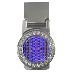 Blue Black Geometric Pattern Money Clips (cz)  by BrightVibesDesign