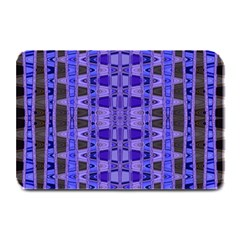 Blue Black Geometric Pattern Plate Mats by BrightVibesDesign