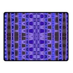Blue Black Geometric Pattern Fleece Blanket (small) by BrightVibesDesign