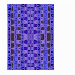 Blue Black Geometric Pattern Large Garden Flag (two Sides) by BrightVibesDesign