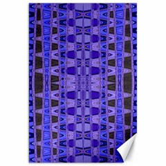 Blue Black Geometric Pattern Canvas 20  X 30   by BrightVibesDesign